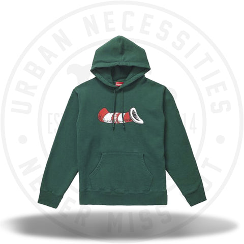 Supreme Cat in the Hat Hooded Sweatshirt Dark Green-Urban Necessities