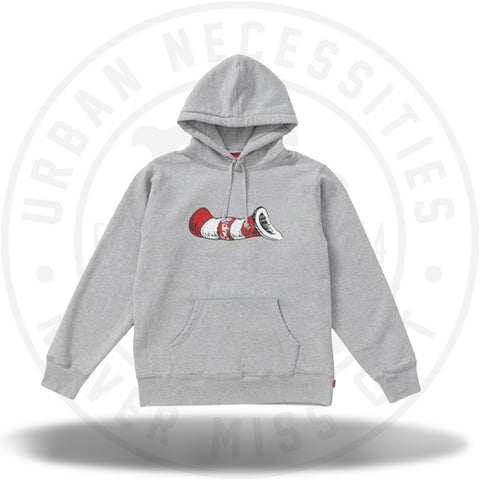 Supreme Cat in the Hat Hooded Sweatshirt Heather Grey-Urban Necessities