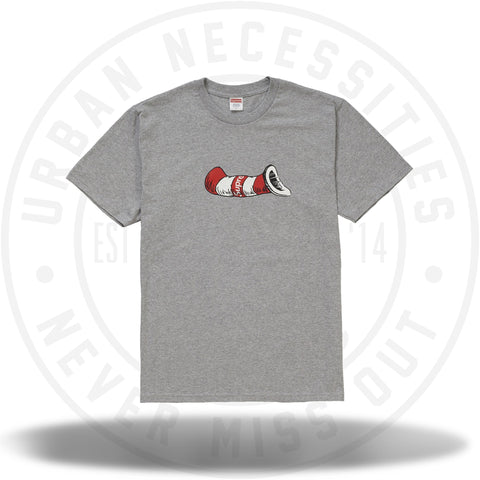Supreme Cat in the Hat Tee Heather Grey-Urban Necessities