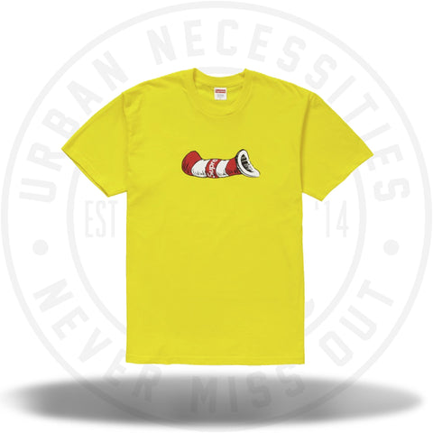 Supreme Cat in the Hat Tee Yellow-Urban Necessities