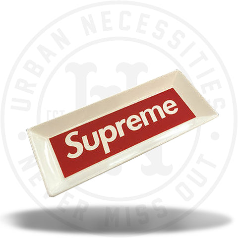 Supreme Ceramic Tray White Red Box Logo 2014 Ashtray-Urban Necessities