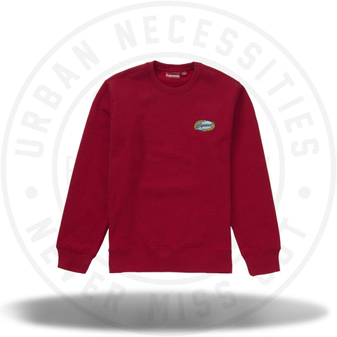 Supreme Chain Logo Crewneck Red-Urban Necessities