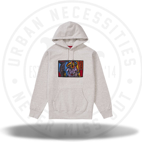 Supreme Chainstitch Hooded Sweatshirt Ash Grey-Urban Necessities