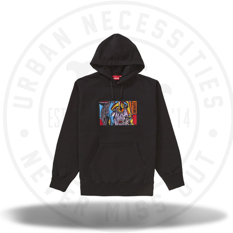 Supreme Chainstitch Hooded Sweatshirt Black-Urban Necessities