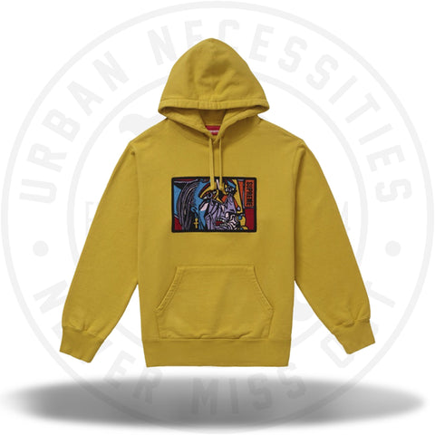 Supreme Chainstitch Hooded Sweatshirt Mustard-Urban Necessities