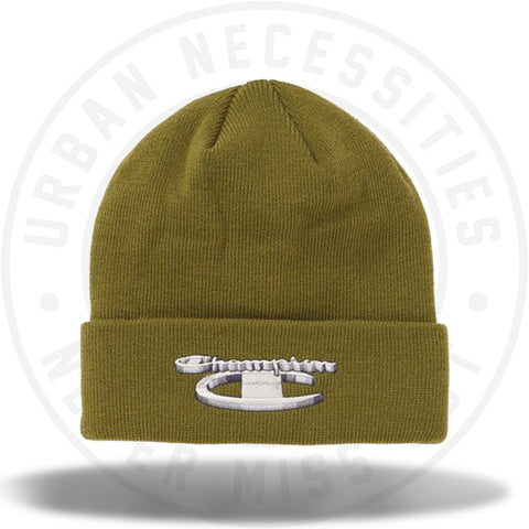 Supreme Champion 3D Metallic Beanie Olive-Urban Necessities