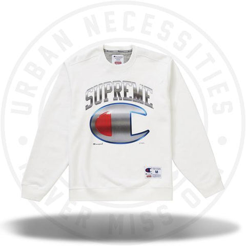 Supreme Champion Chrome Crewneck White-Urban Necessities