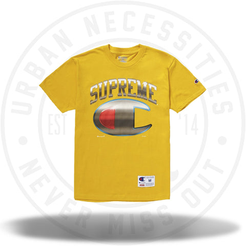 Supreme Champion Chrome S/S Top Gold-Urban Necessities