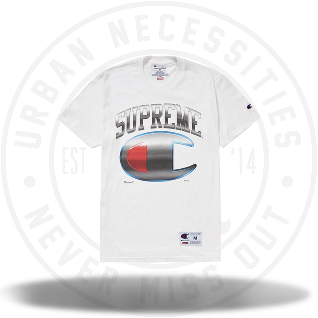 Supreme Champion Chrome S/S Top White-Urban Necessities
