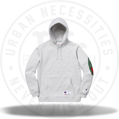 Supreme Champion Hooded Sweatshirt (SS18) Ash Grey-Urban Necessities