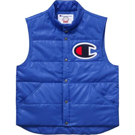 Supreme Champion Puffy Vest - Blue-Urban Necessities