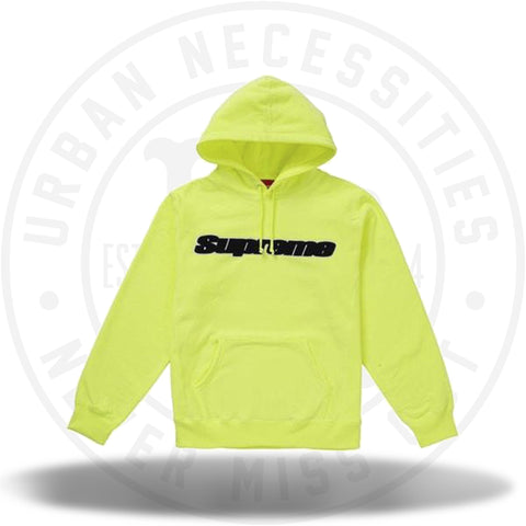 Supreme Chenille Hooded Sweatshirt Bright Yellow SS19-Urban Necessities