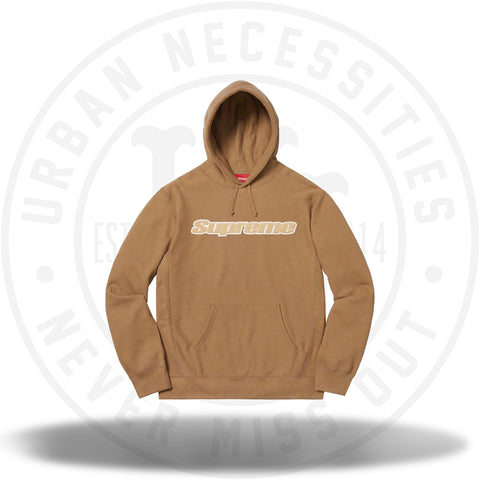Supreme Chenille Hooded Sweatshirt Brown-Urban Necessities