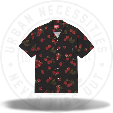 Supreme Cherry Rayon S/S Shirt Black-Urban Necessities