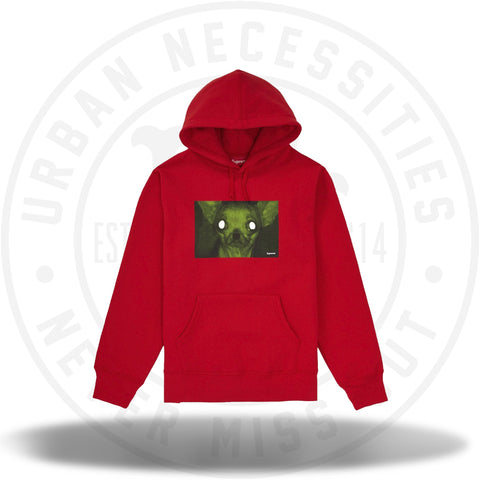 Supreme Chris Cunningham Chihuahua Hooded Sweatshirt Red-Urban Necessities