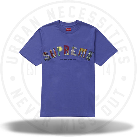 Supreme City Arc Tee Dusty Purple-Urban Necessities