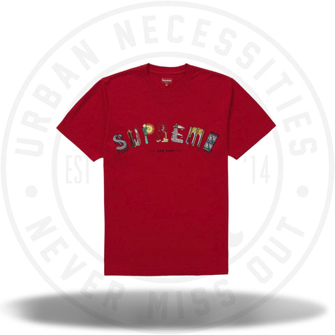Supreme City Arc Tee Red-Urban Necessities