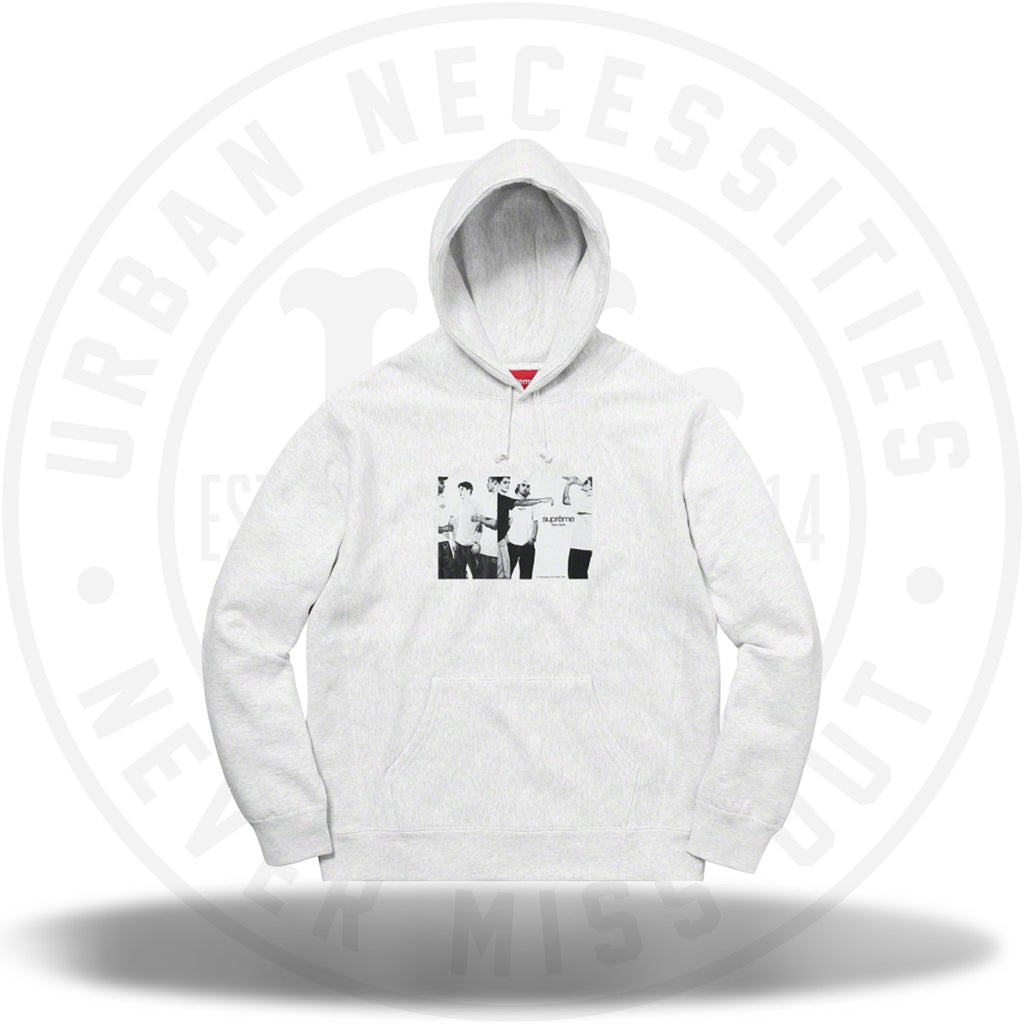 Supreme Classic Ad Hooded Sweatshirt Ash Grey-Urban Necessities