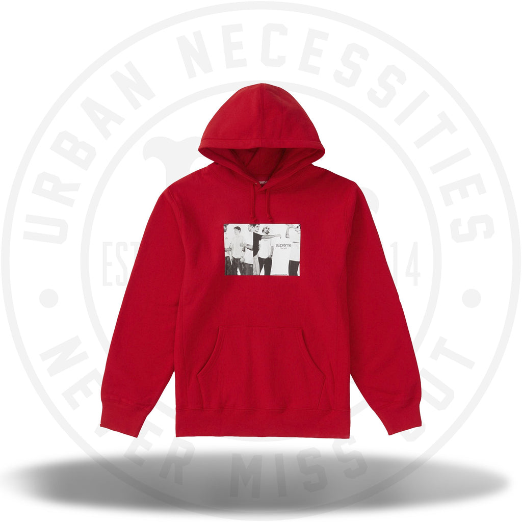 Supreme Classic Ad Hooded Sweatshirt Red-Urban Necessities