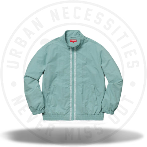 Supreme Classic Logo Taping Track Jacket Pale Green-Urban Necessities