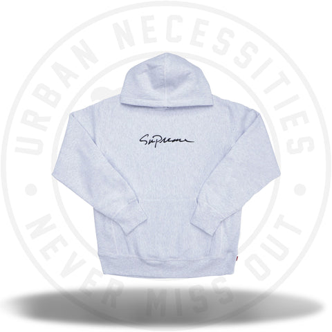 Supreme Classic Script Hooded Sweatshirt Ash Grey-Urban Necessities