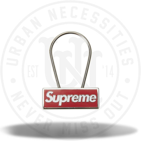 Supreme Clip Keychain Red-Urban Necessities