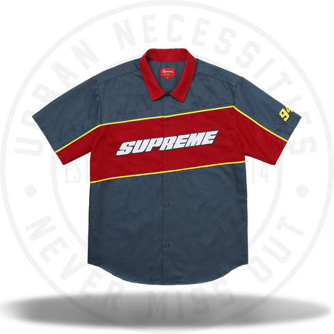 Supreme Color Blocked Work Shirt (SS18) Light Navy-Urban Necessities