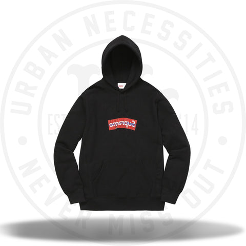 Supreme Comme Des Garcons SHIRT Box Logo Hooded Sweatshirt Black-Urban Necessities