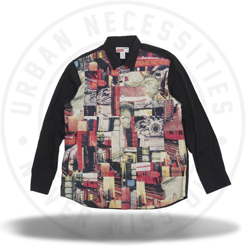 Supreme Comme des Garcons SHIRT Patchwork Button Up Shirt Multicolor-Urban Necessities