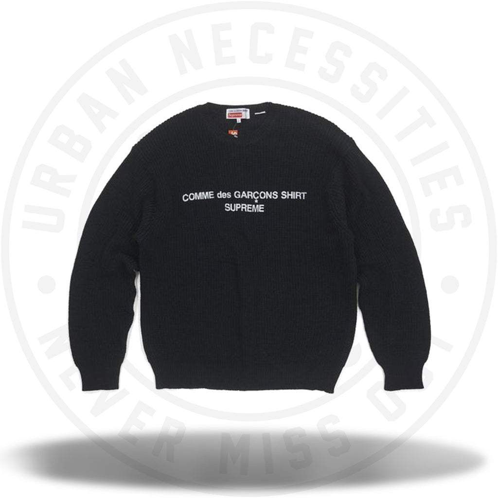 Supreme Comme des Garcons SHIRT Sweater Black-Urban Necessities