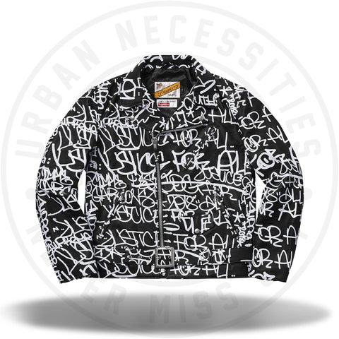 Supreme Comme des Garons SHIRT Schott Painted Perfecto Leather Jacket Black-Urban Necessities