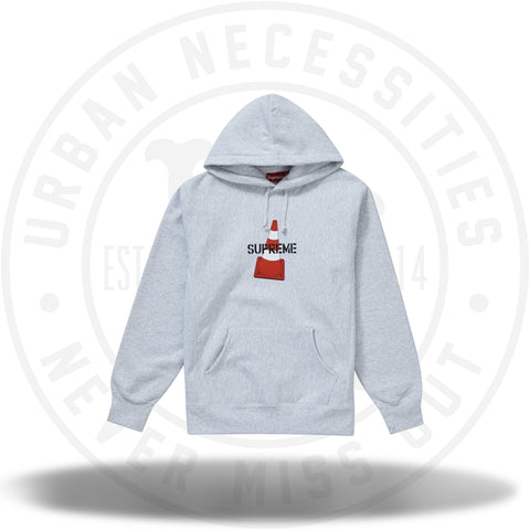 Supreme Cone Hooded Sweatshirt Ash Grey-Urban Necessities
