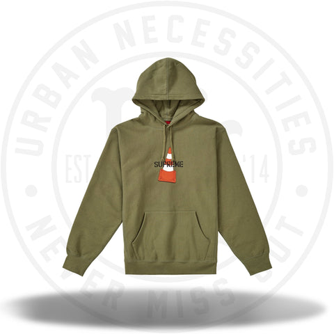 Supreme Cone Hooded Sweatshirt Light Olive-Urban Necessities