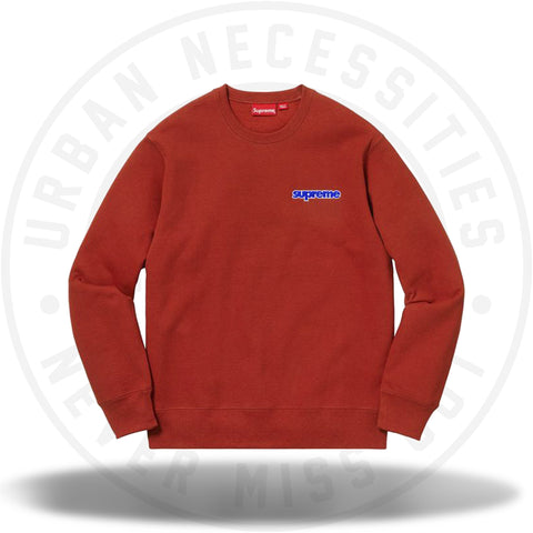 Supreme Connect Crewneck Sweatshirt Rust-Urban Necessities