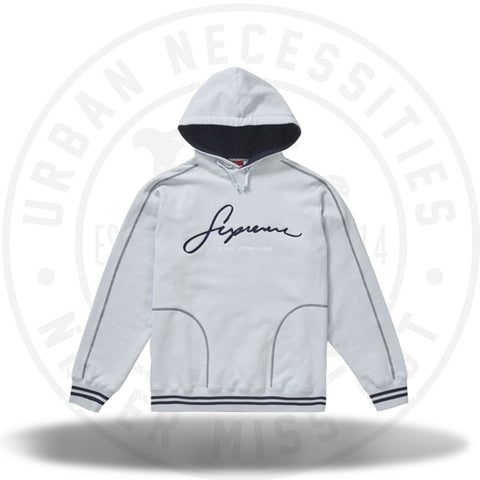 Supreme Contrast Embroidered Hooded Sweatshirt Ice-Urban Necessities