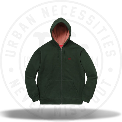 Supreme Contrast Zip Up Hooded Sweatshirt Dark Green-Urban Necessities