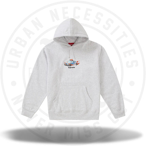 Supreme Cop Car Hooded Sweatshirt Ash Grey-Urban Necessities