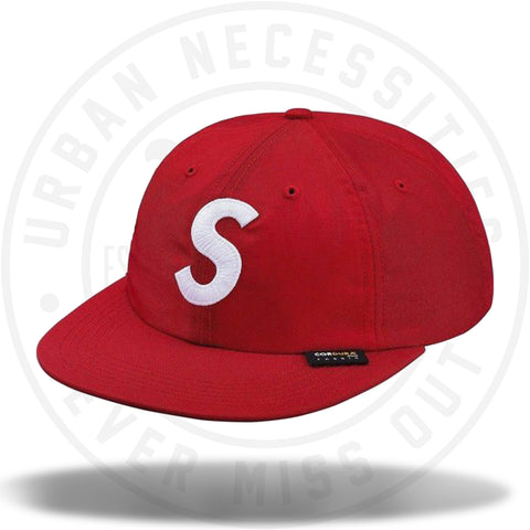 Supreme Cordura S Logo 6-Panel Red-Urban Necessities