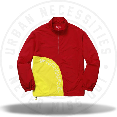 Supreme Corner Arc Half Zip Pullover Red-Urban Necessities