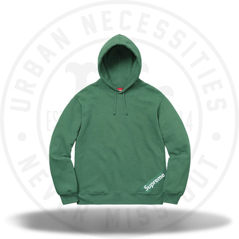 Supreme Corner Label Hooded Sweatshirt Light Pine-Urban Necessities