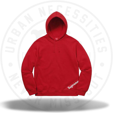 Supreme Corner Label Hooded Sweatshirt Red-Urban Necessities
