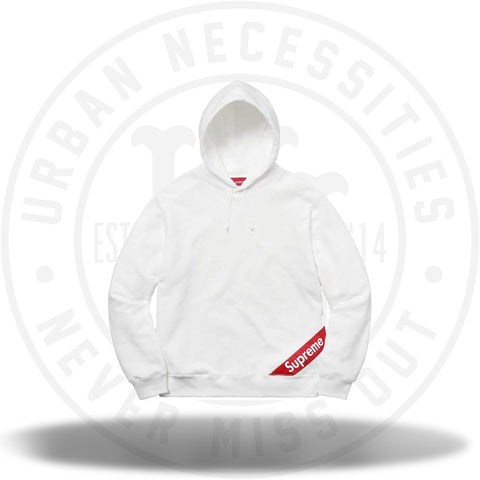 Supreme Corner Label Hooded Sweatshirt White-Urban Necessities