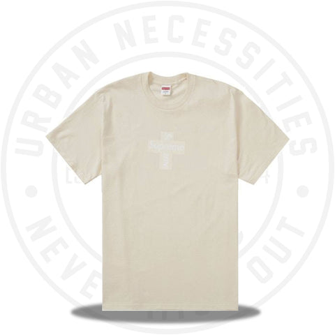 Supreme Cross Box Logo Tee Natural-Urban Necessities