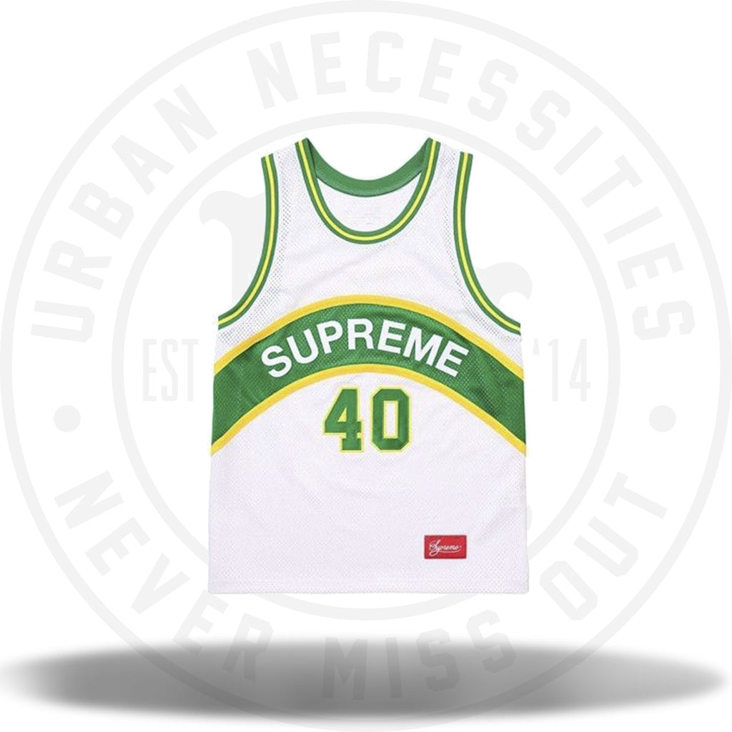 Supreme Curve Basketball Jersey White-Urban Necessities