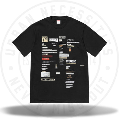 Supreme Cutouts Tee Black-Urban Necessities
