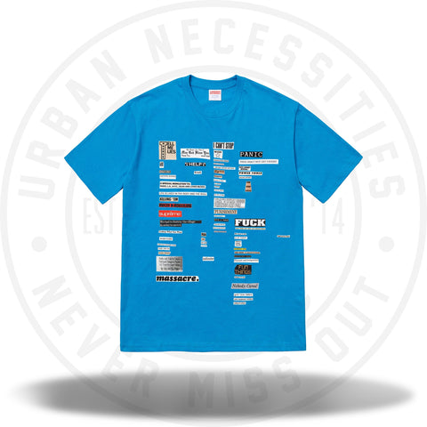Supreme Cutouts Tee Bright Blue-Urban Necessities