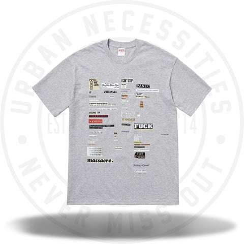 Supreme Cutouts Tee Heather Grey-Urban Necessities