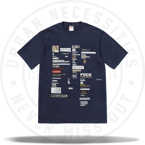 Supreme Cutouts Tee Navy-Urban Necessities