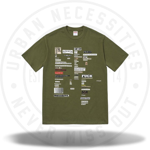 Supreme Cutouts Tee Olive-Urban Necessities