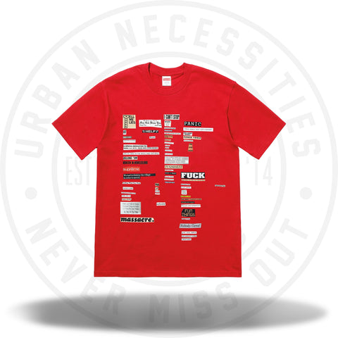 Supreme Cutouts Tee Red-Urban Necessities
